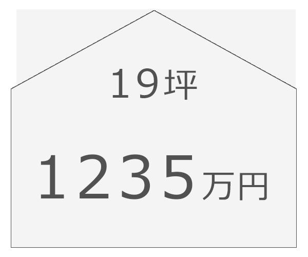 19坪/1235万円